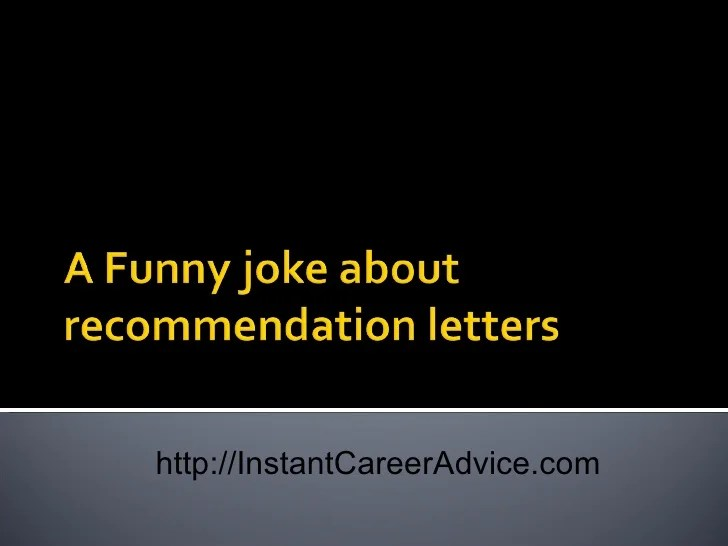 funny letter of recommendation