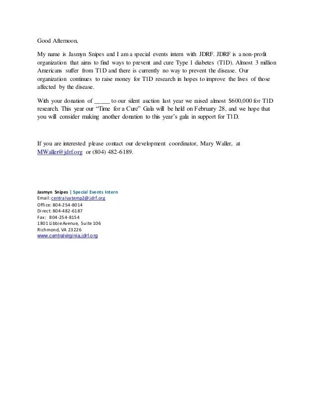 Sample Gala Procurement Email