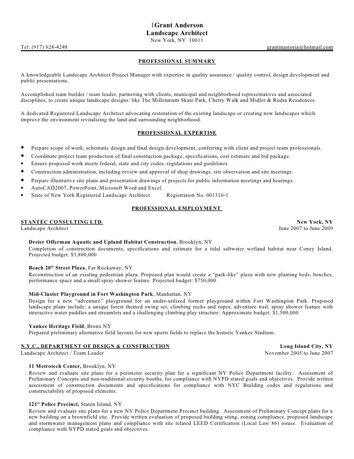 25 Landscape Architecture Resume Summary Pictures And Ideas On Pro