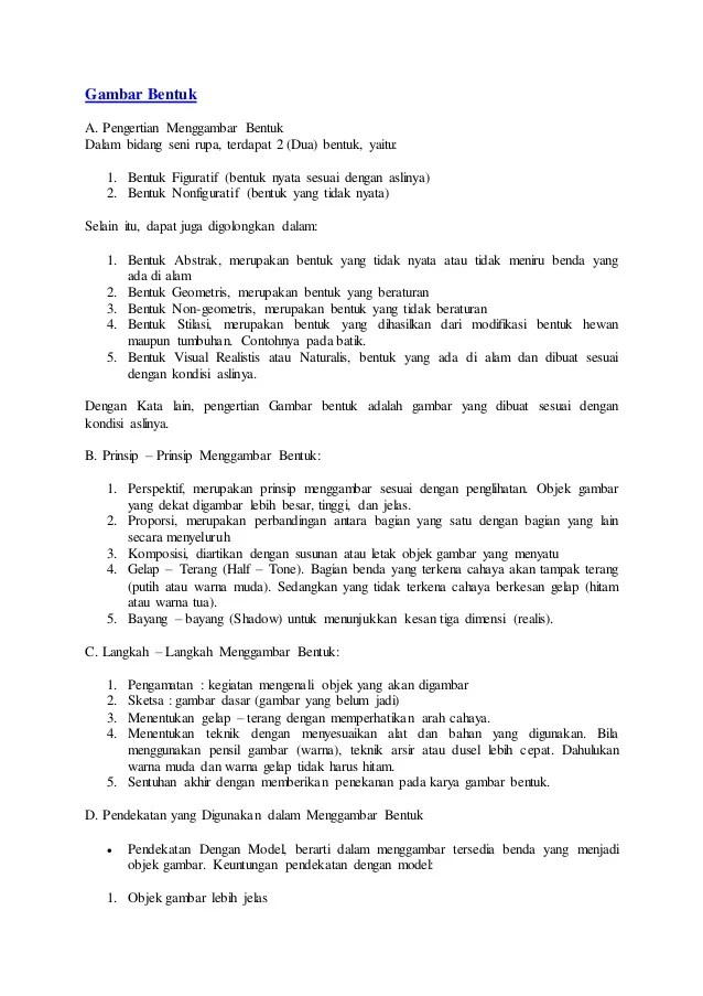 Prinsip Prinsip Menggambar : prinsip, menggambar, Gambar, Bentuk