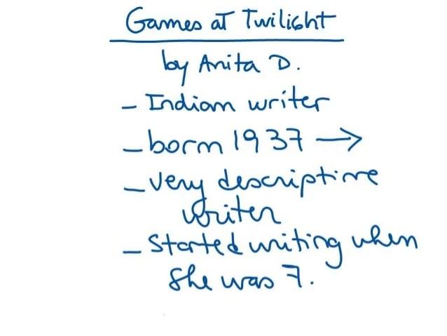 Analysis Of Games At Twilight By Anita Desai