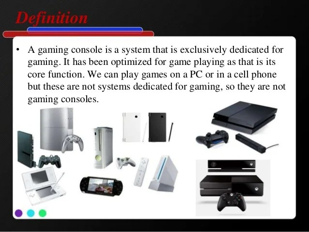 What Is The Definition Of Game Console Gameswalls Org