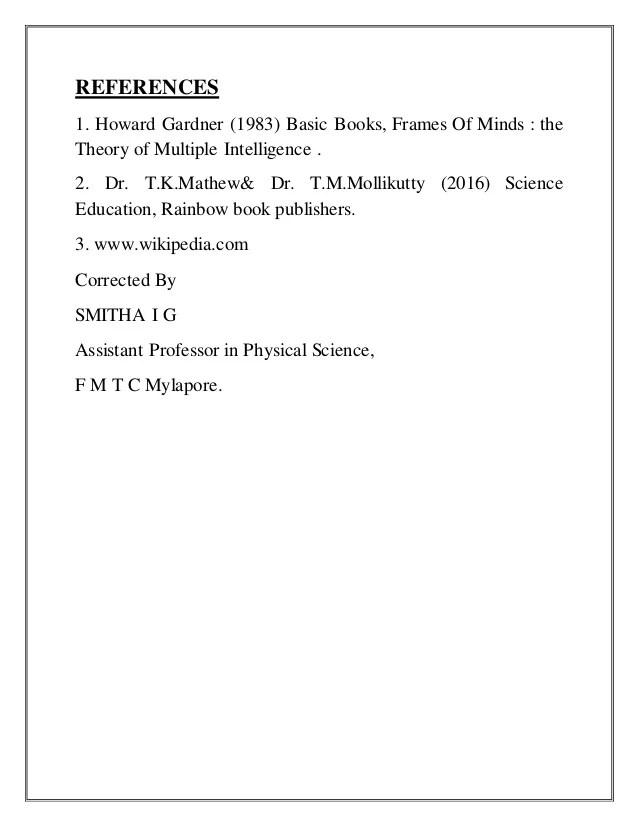 Howard Gardner Frames Of Mind 1983 Publisher | Amtframe.org