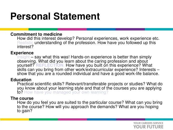 job application personal statement nhs