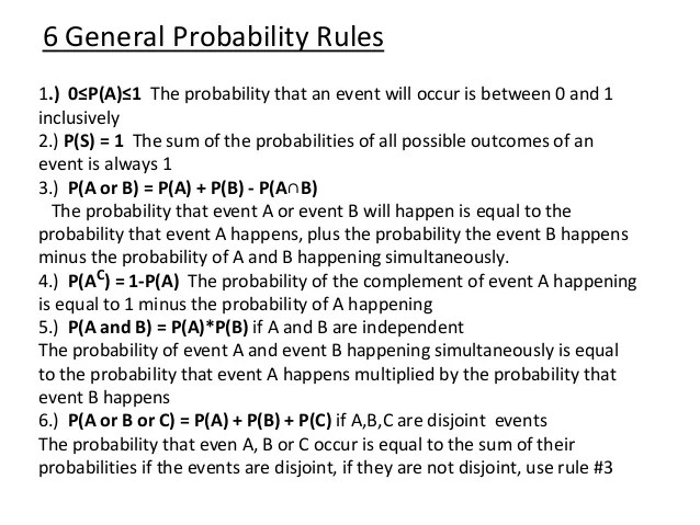 what is a sample space diagram class inventory general probability rules