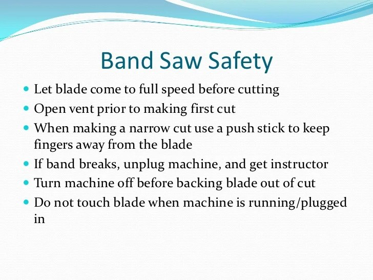 Bandsaw Rules