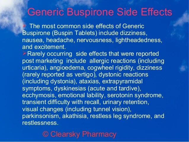 Generic Buspirone Hydrochloride Tablets (Buspin)