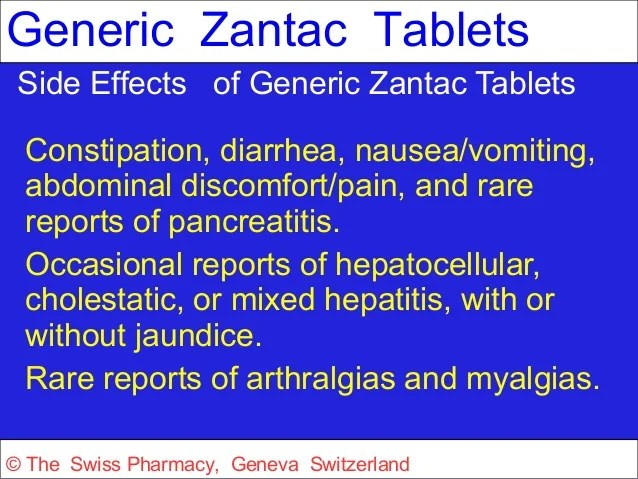 Generic Zantac for Treatment of Duodenal and Gastric Ulcers