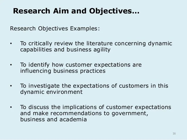 sample objectives of research paper