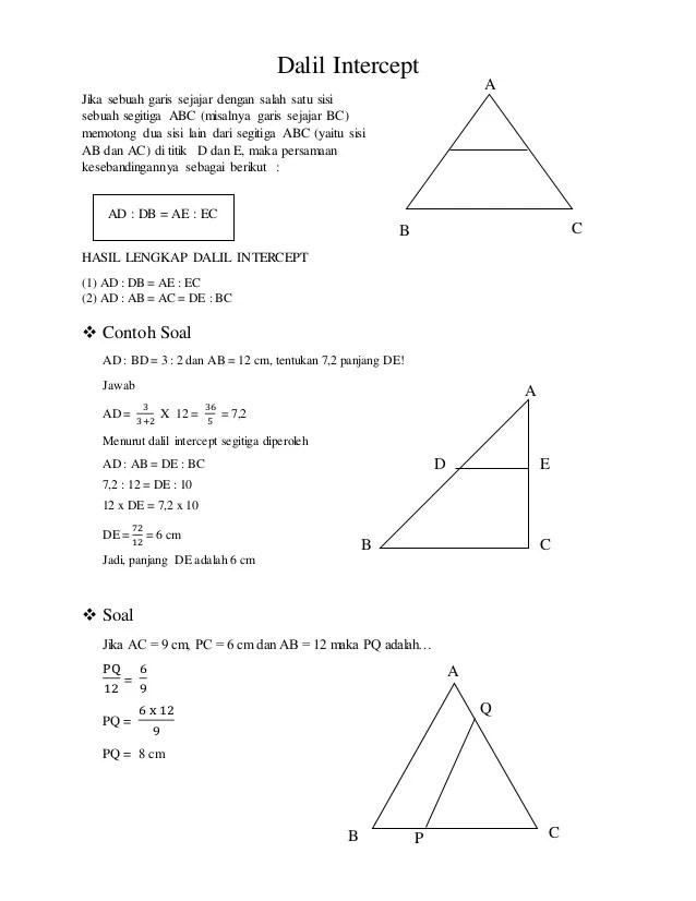 Geometri Bidang Datar Dan Dalil Dalil Pada Segitiga
