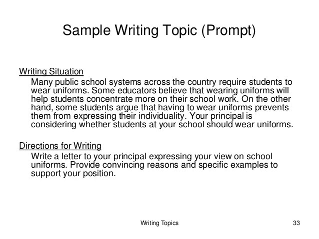 Georgia High School Writing Test Instruction And