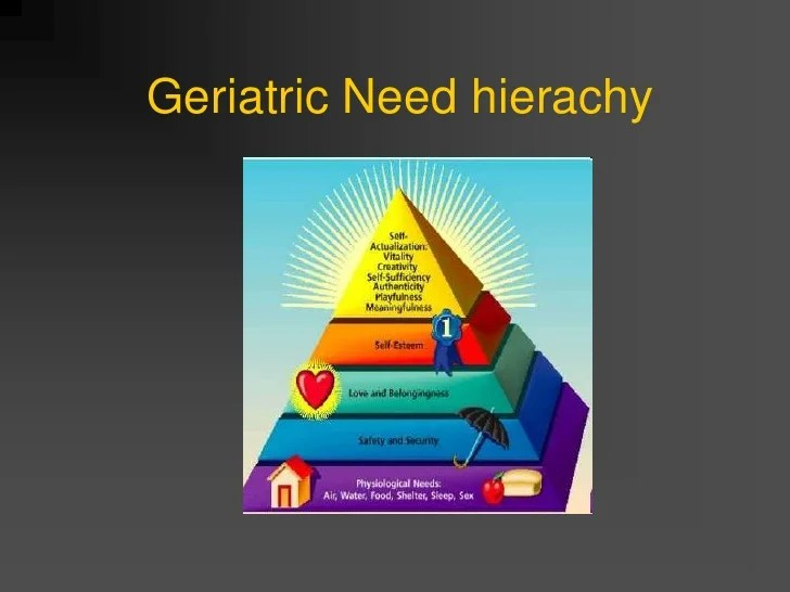 Geriatric Need hierarchy Psychology