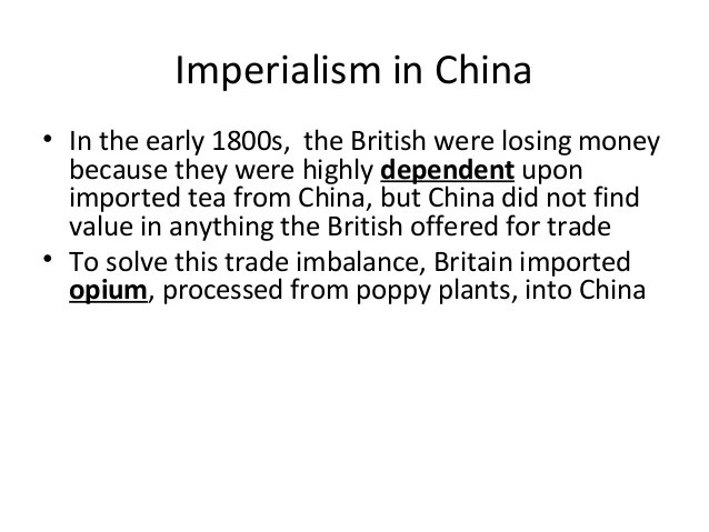 effects of imperialism in china