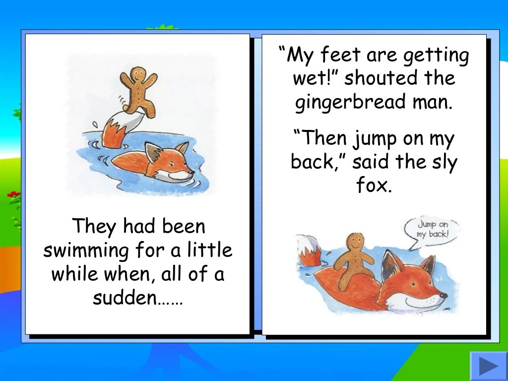Gingerbread Man Story Book