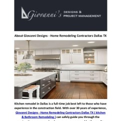 Kitchen Remodel Dallas Giagni Fresco Stainless Steel 1-handle Pull-down Faucet Giovanni Designs In Tx About Home Remodeling Contractors Is A Full