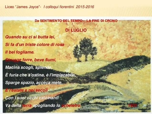 Giuseppe Ungaretti sentimento del tempo