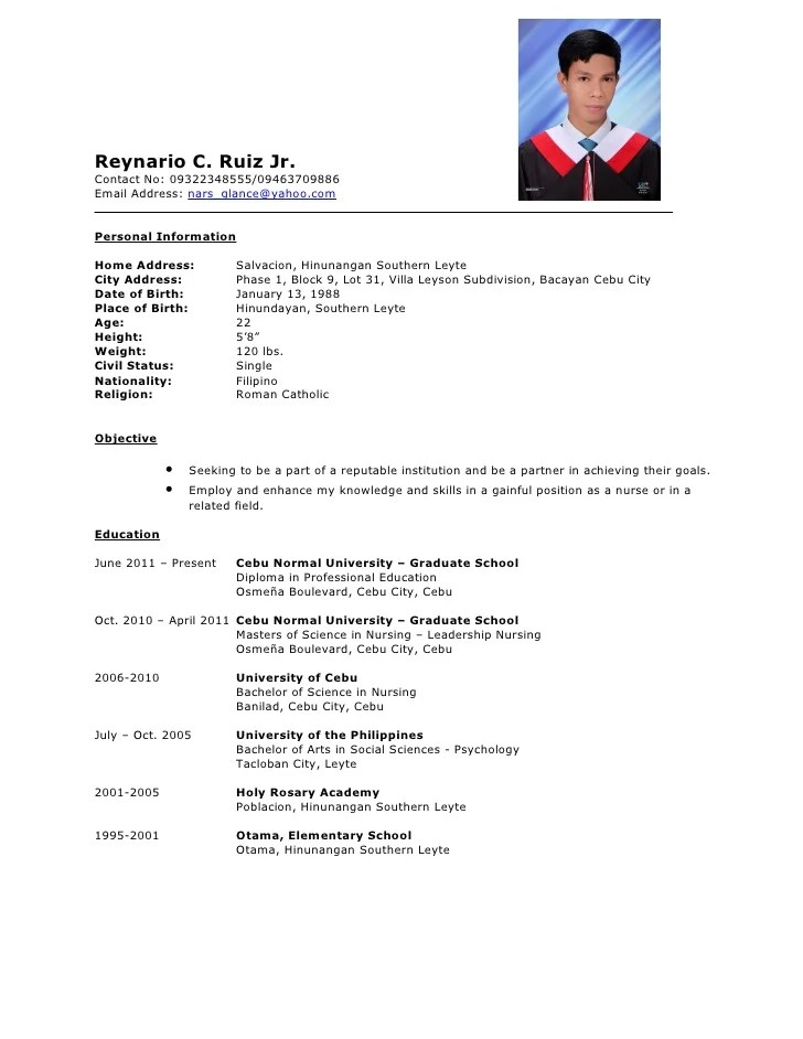 Sample Resume Sample Resume Format For Job Application Resume  Examples Of Resume For Job Application