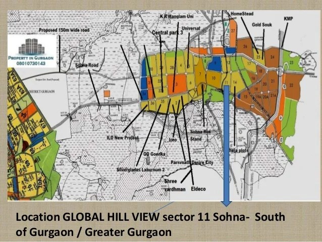 Location GLOBAL HILL VIEW sector 11 Sohna- South of Gurgaon / Greater Gurgaon