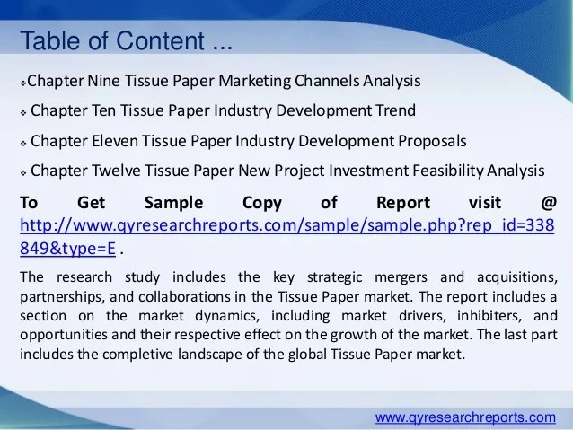 Research On Tissue Paper Research Paper Academic Service
