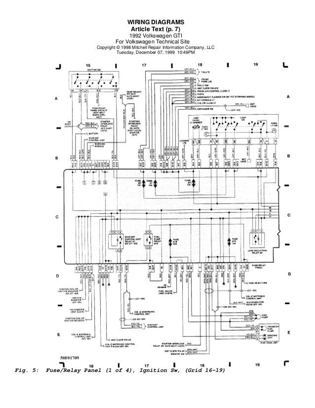 Golf 92 Wiring Diagrams Eng