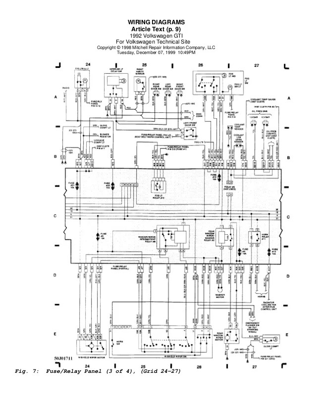 wiring diagram golf 4 16