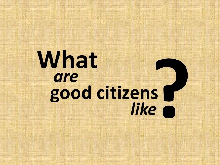 Good citizens dispositions 2