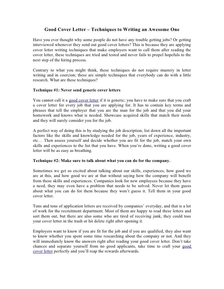 Awesome Cover Letters  levelings