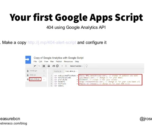 7 Your First Google Apps Script