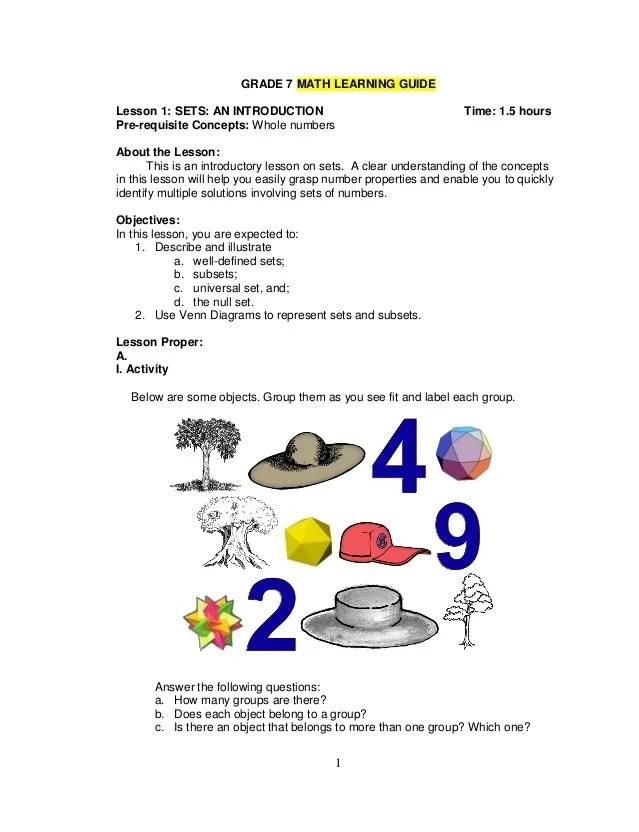 Sets And Subsets Venn Diagrams