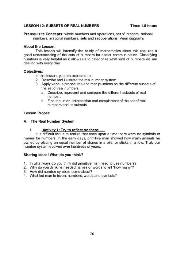 Grade Worksheets Real Number System 7th