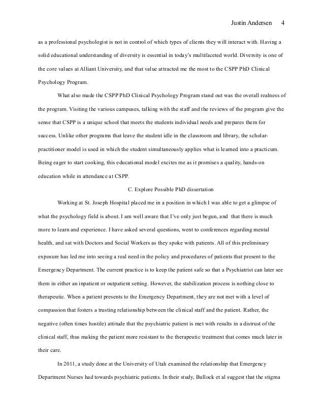 Grad school admissions essay