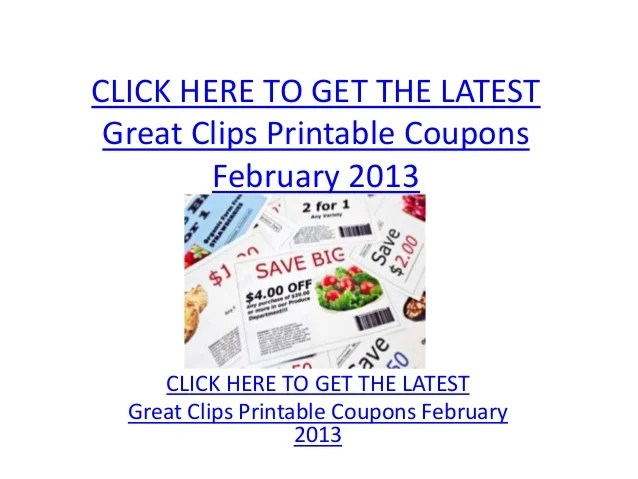 graphic regarding Great Clips Printable Coupons named 20+ Superb Clips Discount coupons 2013 Suggestions and Ideas