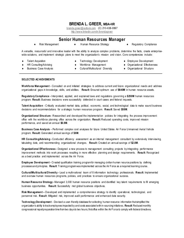 Resume Manager Human Resources | Use resume in a sentence ...