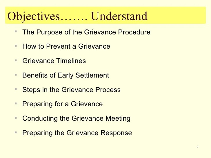 essays on grievance procedures Further information is available from the acas discipline and grievance  then the acas helpline could give you guidance on procedures and best practice to.