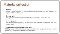 Ground granulated blast furnace slag ggbs