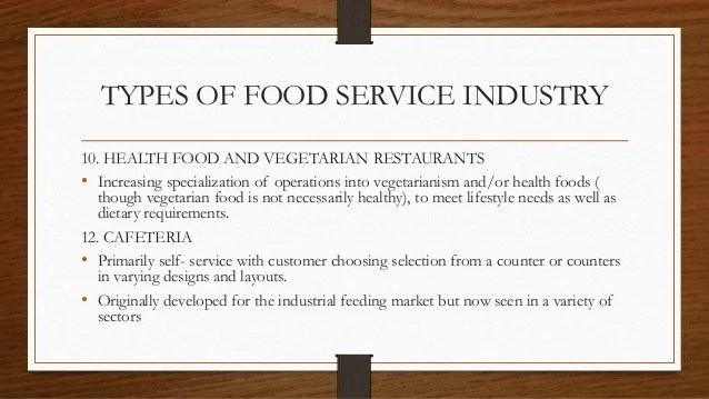 History of Food Service Industry