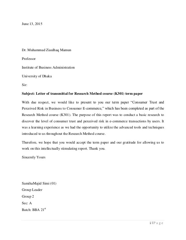 Letter Of Transmittal For Research Paper Dolap Magnetband Co