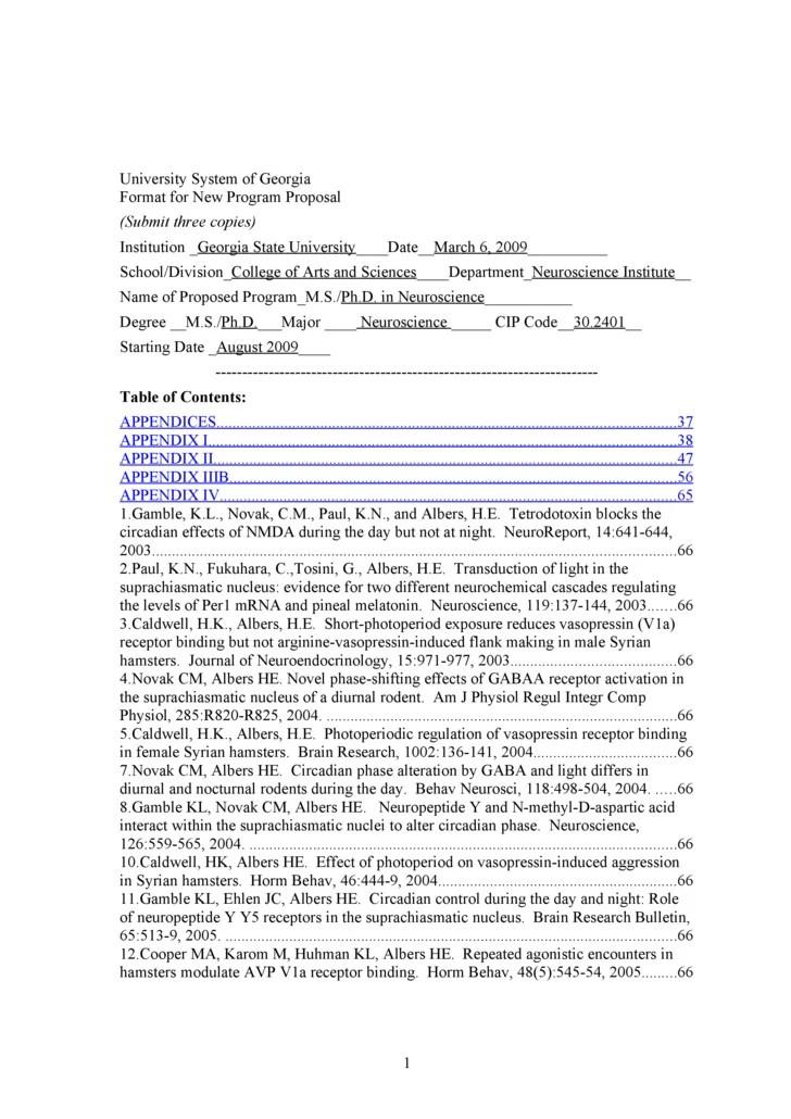 Gsu Ph D Neuroscience Proposal Bor Submission