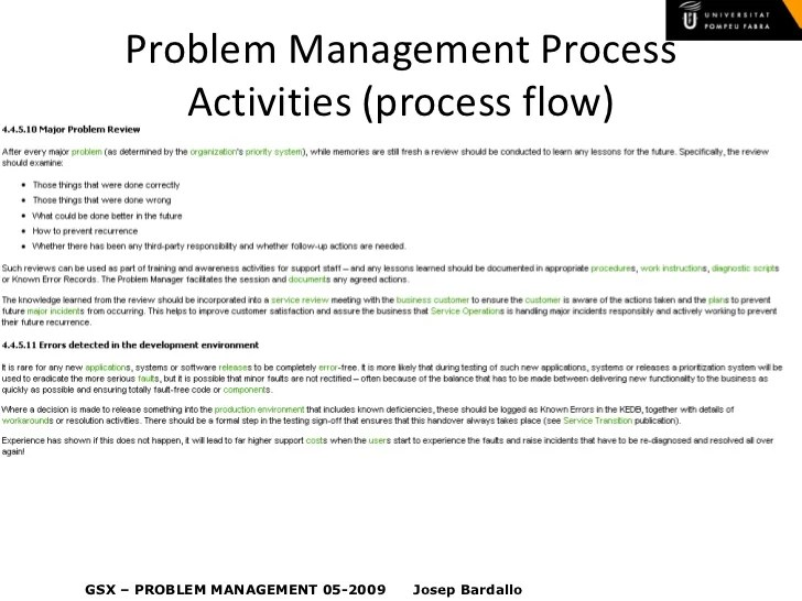 Problem management also itil  rh slideshare