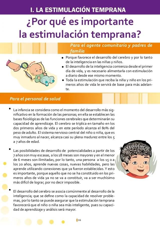 Gua de estimulacin temprana para el facilitador