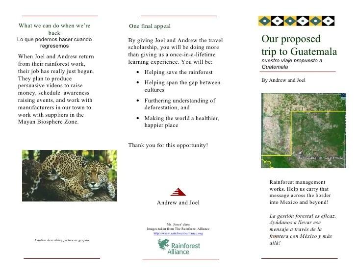 Guatemalan Trip Brochure