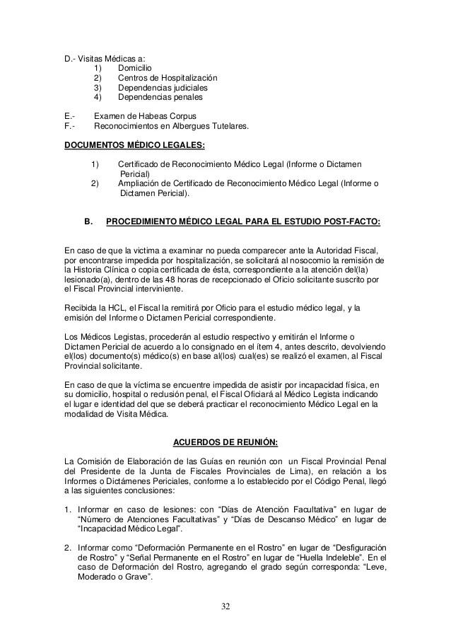 Guia Medico Legal De Valoracion Integral De Lesiones