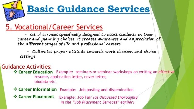 Guidance & Counseling Guidance Services