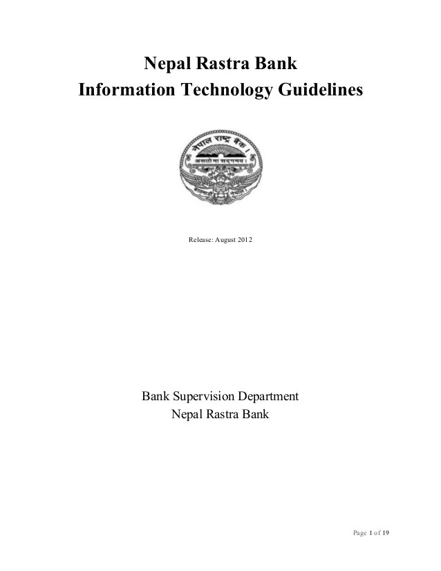 Guidelines Nrb It Guidelines 2012 New