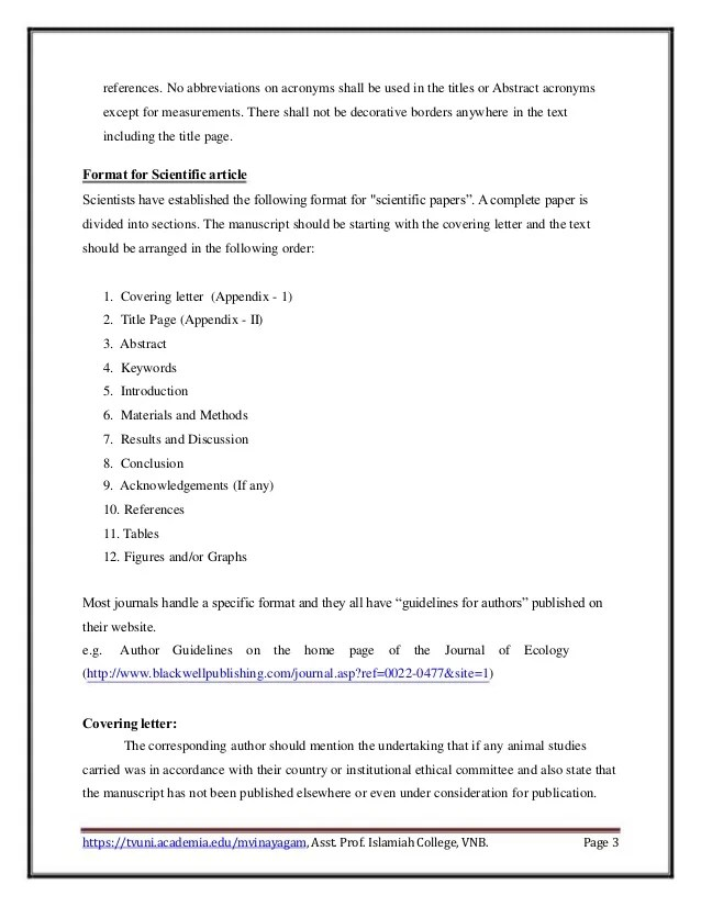 Guidelines To Scientific Paper Writing