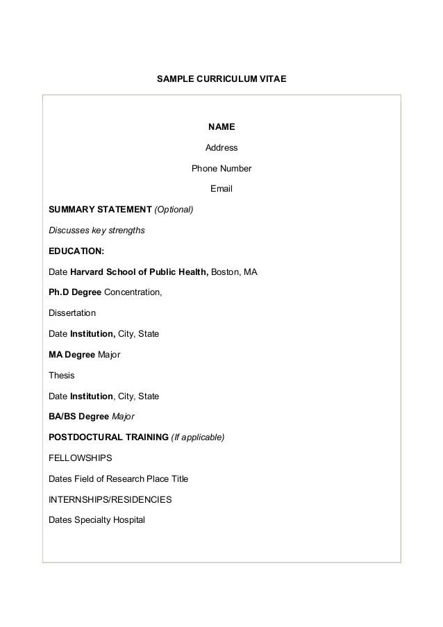 resume guide harvard