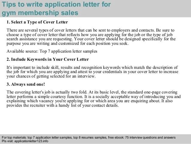resume letter for gym