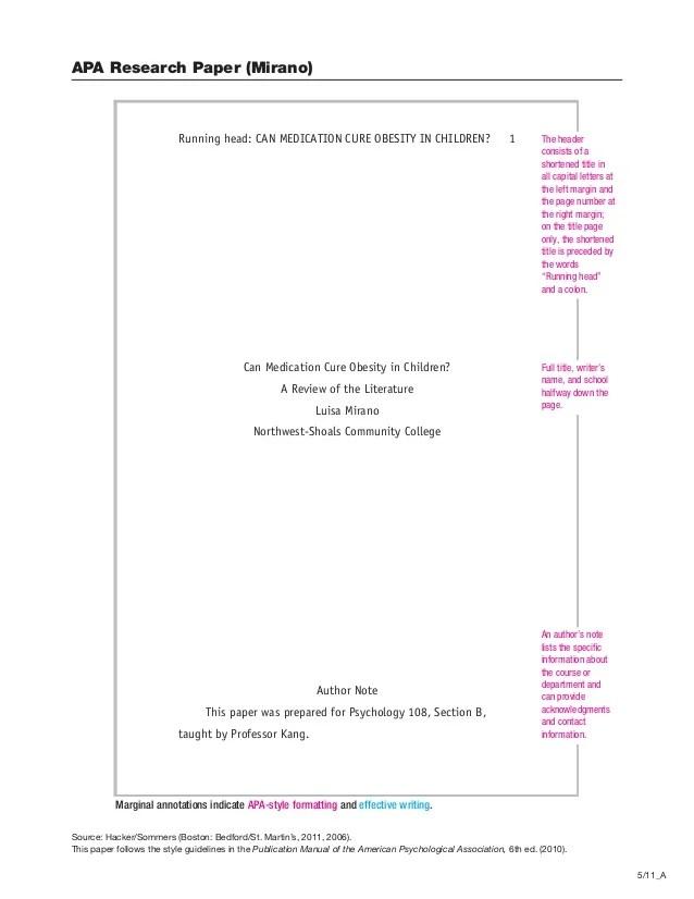 apa formated paper
