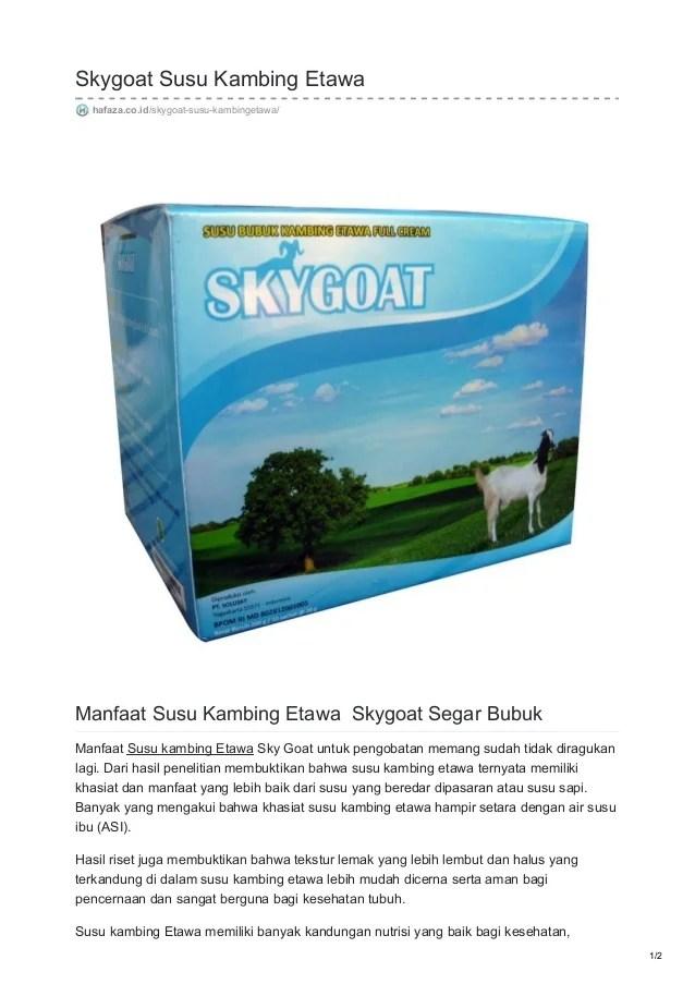 Manfaat Susu Kambing Skygoat : manfaat, kambing, skygoat, Hafaza.co.id, Skygoat, Kambing, Etawa