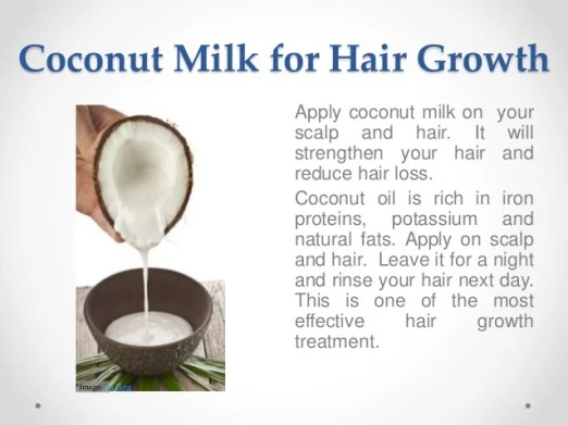 Image result for Coconut Milk for hair